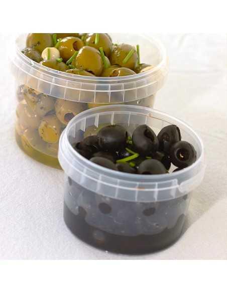 Envases tapa hermética de seguridad plástico transparente 180 ml