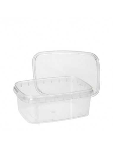Envases tapa hermética de seguridad plástico transparente 250 ml