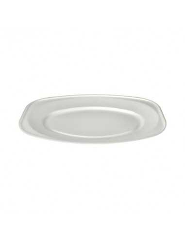Bandejas servicio comida color blanco XPS laminado ovales