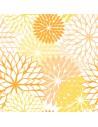 Servilletas de papel decoradas flores amarillo 40 x 40 cm