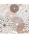 Servilletas de papel decoradas flores marrón 40 x 40 cm
