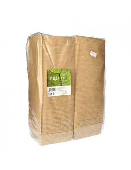 Cajas para hamburguesas cartón fibra fresca marrón 10,5 x 11,5 cm