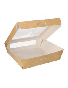 Cajas cartón con ventana de Pla Take Away 1500 ml Pure