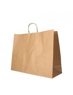 Bolsas papel kraf marrón con asa comercio 27 x 32 x 21,5 cm