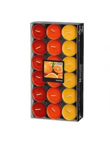 Velas lamparilla perfumadas naranja surtido color Ø38 x 17mm