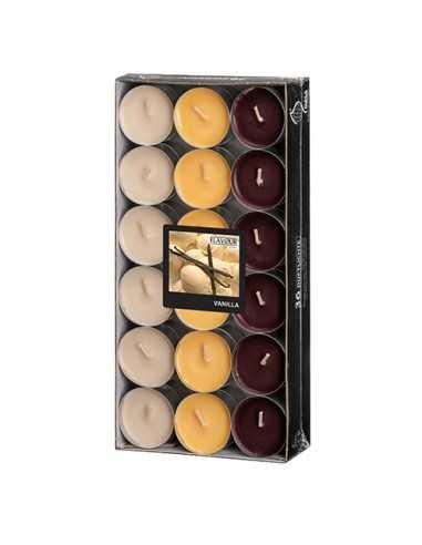 Velas lamparilla perfumadas vainilla color surtido Ø 38 x 17mm