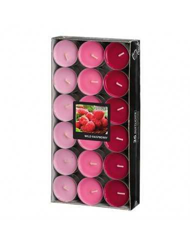 Velas lamparilla perfumadas frambuesa color surtido Ø 38 x 17mm