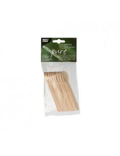 Cucharillas madera de abedúl para café o postre 11cm Pure