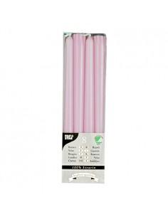 Velas candelabro color rosa claro 100% estearina Ø 2,2 x 25 cm