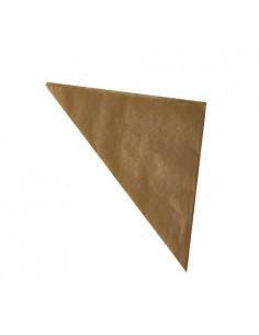 Conos papel para fritos anti grasa color marrón 250gr