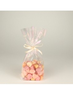 Bolsas pastelería plástico celofán color transparente 23,5 x 14,5 x 5,8 cm
