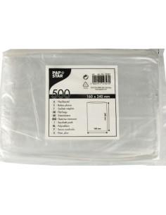 Bolsas de plástico planas color transparente para alimentos 24 x 16cm