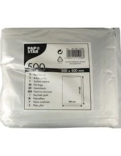 Bolsas de plástico planas color transparente para alimentos 50 x 30cm
