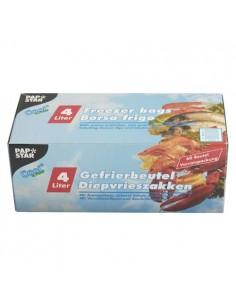 Bolsas para congelar alimentos plástico transparente 4l