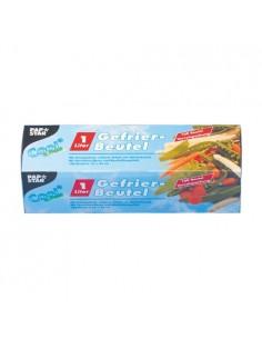 Bolsas para congelar alimentos plástico transparente 1l