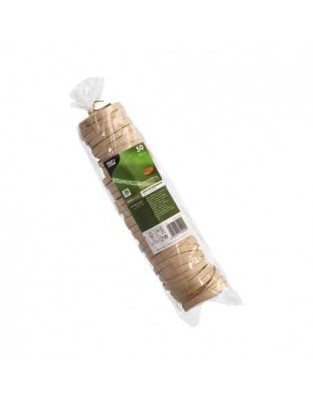 Tapas tarrinas soperas cartón marrón Pure 100% Fair Ø 6 cm