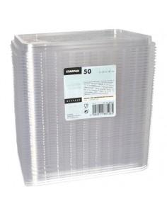Tapas plástico reciclable transparente para envases 22,7 x 17, 8 cm