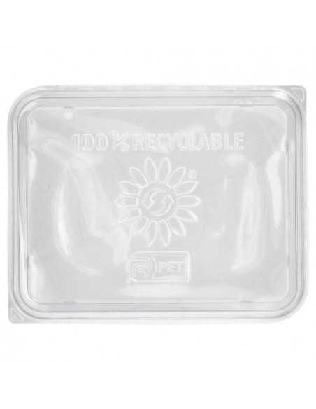 Tapas plástico reciclable transparente para bandejas de plástico 22,7 x 17, 8 cm