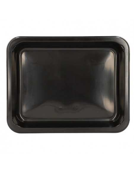Bandejas microondables plástico negro take away 935 ml