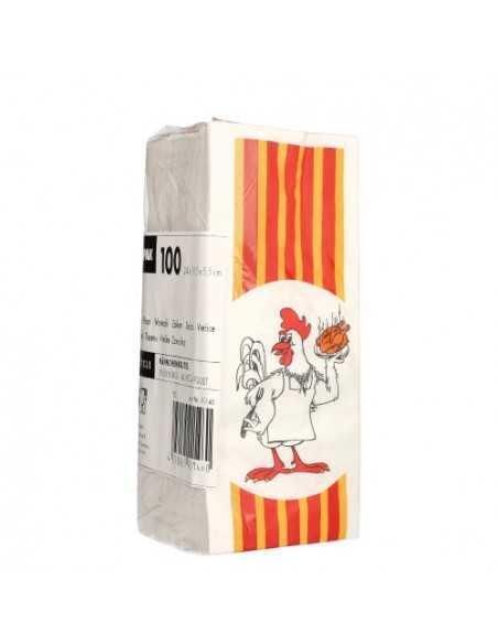 Bolsas para pollos asados papel anti grasa 24 x 10,5 x 5,5 cm