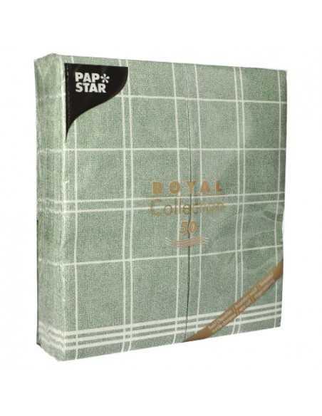 Servilletas de papel cuadros verde Royal Collection Kitchen Craf 1/6