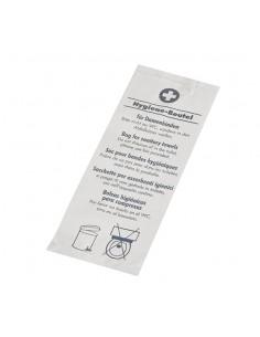 Bolsas higiénicas para aseos papel blanco impreso 28 x 11x 5,5 cm