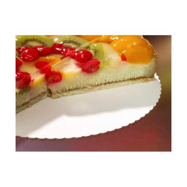 Bases para tarta cartón blanco redondas borde dentado Ø 30 cm Pure