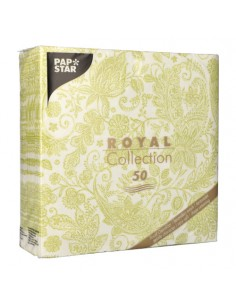 Servilletas de papel decoradas cachemir verde Royal Collection 40 x 40 cm