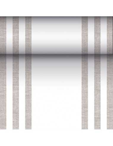 Camino mesa papel tisú tela Royal Collection gris 24 m x 40 cm Line
