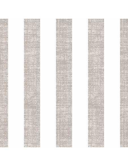 Servilletas de papel rayas gris blanco Royal Collection 40 x 40 cm