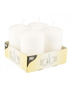Velas de taco parafina color blanco Ø 50 x 80mm