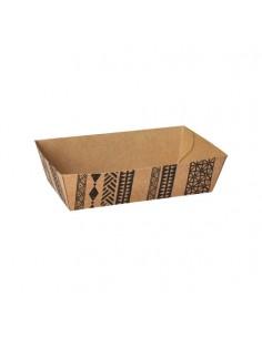 "Bandejas cartón para fritos marrón 10,5 x 14 cm ""Maori"""