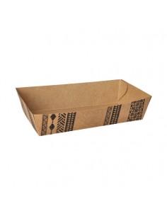 "Bandejas cartón para fritos marrón 12,4 x 18 cm ""Maori"""