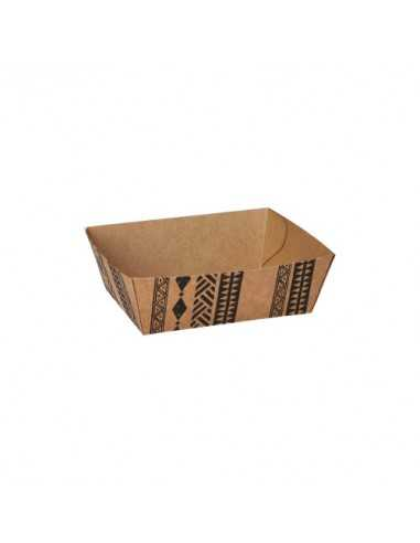 "Bandejas cartón para fritos marrón 10 x 11,2 cm ""Maori"""