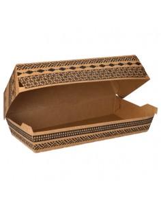 """Cajas para bocadillos grande cartón marrón 24,8 x 13,1 cm """"Maori"""""""