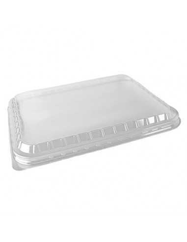 Tapas envases caña azúcar de plástico PS transparente