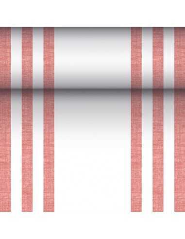 Camino mesa papel rayas burdeos Royal Collection 24 m x 40 cm