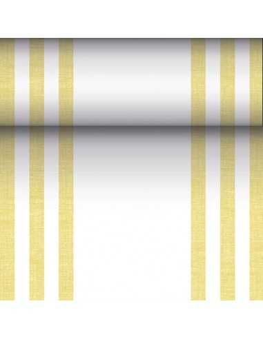 Camino mesa papel rayas amarillo Royal Collection 24 m x 40 cm