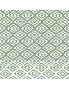 """Servilletas de papel decoradas Royal Collection 40 x 40 cm verde """"Ethnic Look"""""""