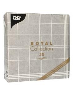 Servilletas de papel cuadros gris Royal Collection Kitchen Craf 40 x 40 cm