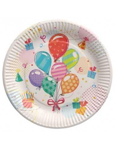 Platos cartón para fiestas infantiles decorados y compostables Ø 23 cm