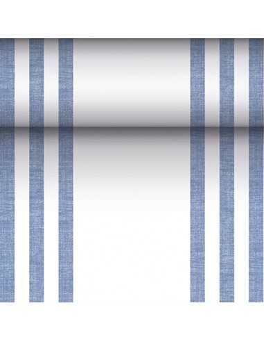 Camino mesa papel rayas azul Royal Collection 24 m x 40 cm