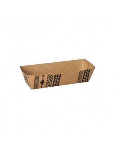 "Bandejas cartón para fritos marrón 6,5 x 12,3 cm ""Maori"""