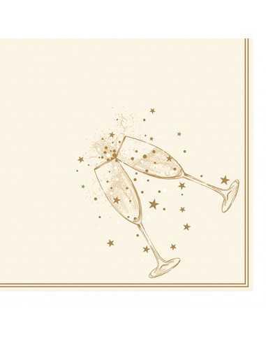Servilletas papel para celebraciones color oro 40 x 40 cm Festivity Royal Co