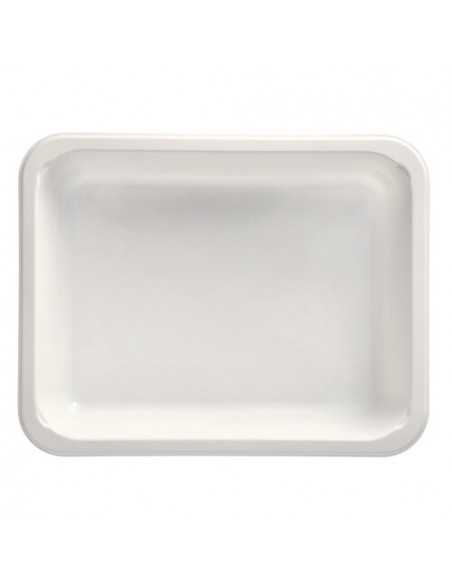 Bandejas microondables de plástico blanco take away 1330 ml