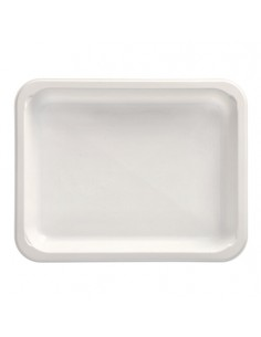 Bandejas microondables plástico blanco take away 935 ml