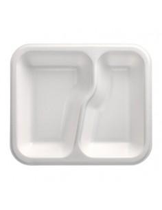 Bandejas para menú termosellables blancas XPS 1000 ml