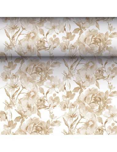 Camino mesa papel decorado rosas arena Royal Collection 24 m x 40 cm