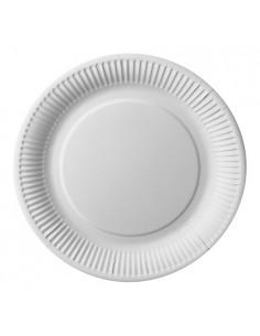 Platos de cartón redondos color blanco Ø 26cm Pure