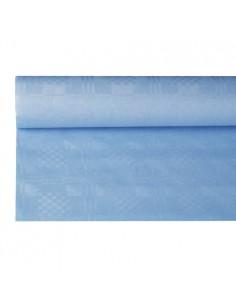 Mantel Papel Gofrado Damasco Color Azul Claro 1,2 x 8 m